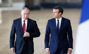 Vladimir Poutine et Emmanuel Macron en «tolérance mutuelle» le 29 mai 2017 à Versailles