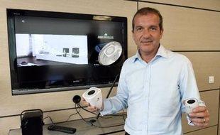 Le co fondateur de la PME Awox, Alain Molinie, à Montpellier, le 22 mai 2014 au siège de sa société