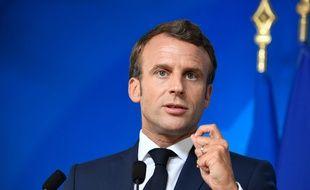 Emmanuel Macron (ici le 2 juillet) n'a pas beaucoup apprécié le mouvement de grève des profs correcteurs.