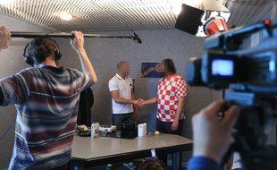 Tournage d'une émission de cuisine à la prison de l'Elsau
