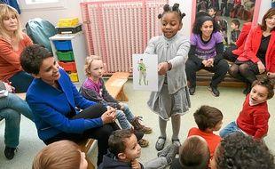 Najat Vallaud-Belkacem a participé jeudi à l'ABCD de l'égalité à l'école maternelle Sauzelong.