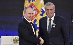 Vladimir Poutine et Philippe Saurel, lundi