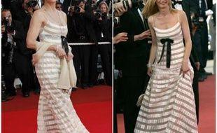 Jane Fonda et Anne Consigny portent la même robe lors de la clotûre du festival de Cannes 2007