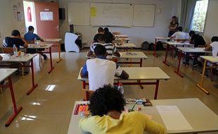 Une salle de classe dans un établissement de l'Ile de la Réunion (photo d'illustration).