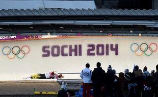 La piste de luge de Sotchi le 12 février 2014.