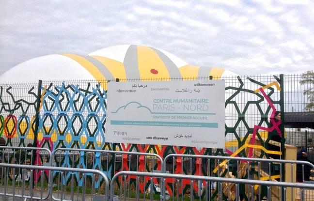 Le centre humanitaire Paris Nord, plus grand centre de transit européen, a ouvert jeudi 10 novembre 2016.