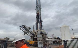 Le site de géothermie opéré par Fonroche à Vendenheim-Reichstett le 13 novembre 2019.