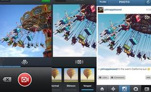 La fonction vidéo sur le réseau social Instagram.