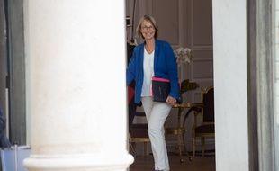 La ministre de la culture Françoise Nyssen au Palais de l'Elysée le 31 août 2018.