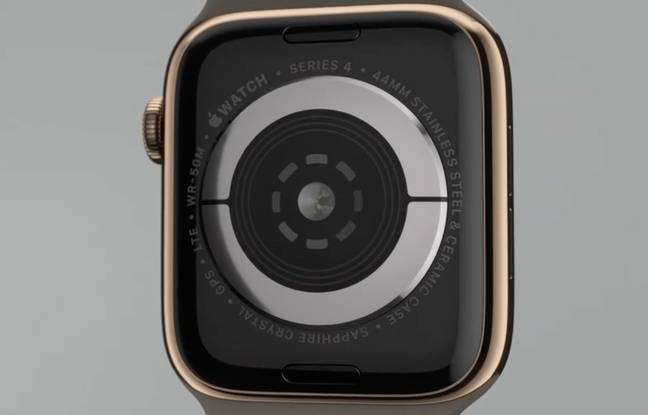 La face arrière de l'Apple Watch Series 4.