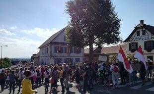 Une manifestation anti-GCO s'est tenue ce samedi après-midi à Kolbsheim, et elle a rassemblé pas loin de 2.000 personnes.