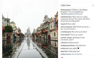 Capture d'écran d'un des clichés immortalisant Disney vidé de ses visiteurs.
