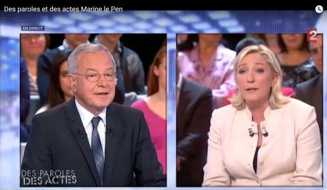 Alain Lamassoure face à Marine Le Pen en 2014.