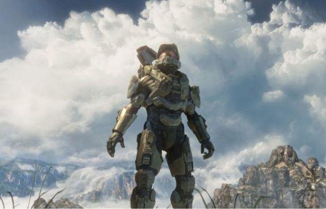 """Master Chief, le héros de la saga de science-fiction """"Halo""""."""