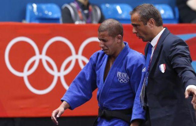 Le judoka français Sofiane Milous, lors de sa défaite aux Jeux olympiques de Londres, le 28 juillet 2012.