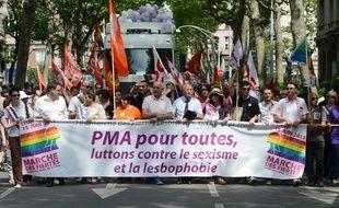 Déjà en 2013 lors de la Gay Pride de Lyon, la PMA pour toutes était au cœur des revendications.