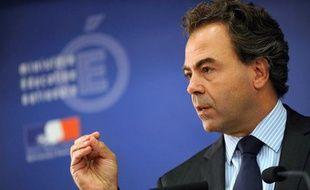 Le ministre de l'Education Luc Chatel lors d'une conférence de presse à Paris le 31 août 2010.