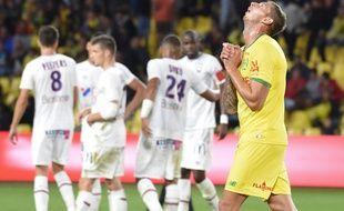 Emiliano Sala a inscrit son deuxième but de la saison contre Caen.