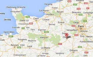 Google map de Lucé, en Eure-et-Loir.
