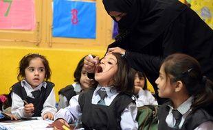 A Quetta au Pakistan, une campagne de vaccination des petites filles a été organisée dans les écoles, le 14 septembre 2015.