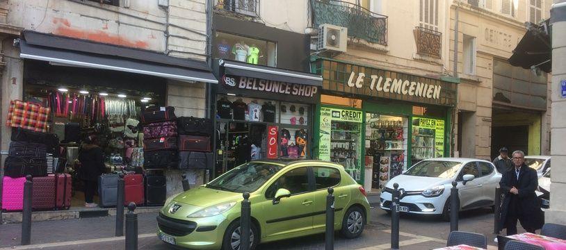 La rue nationale à Belsunce, Marseille.