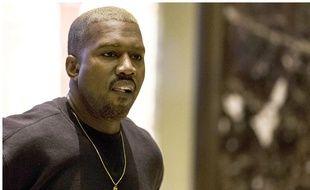Le rappeur Kanye West visite la Trump Tower à New York le 13 décembre 2016.