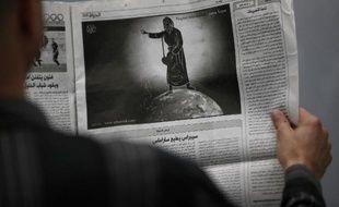 Image signée par le dessinateur palestinien Mohammed Sabaaneh, évoquant le prophète Mahomet, parue le 3 février 2015 dans le journal palestinien Al-Hayat, de Jérusalem