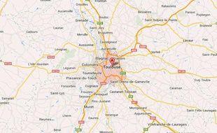 Localisation de Toulouse (Haute-Garonne).