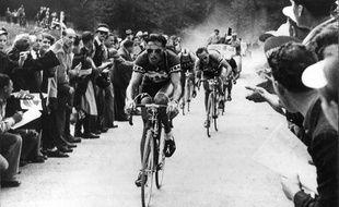 Kübler sur le Tour de Suisse en 1951.