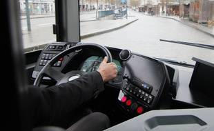 Illustration d'un chauffeur de bus.