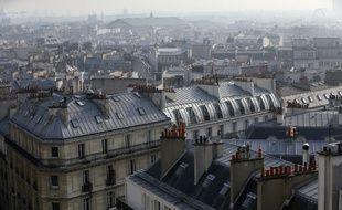 Illustration des toits de Paris