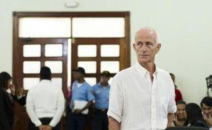 Alain Castany à l'audience le 5 juin 2015 au tribunal à Saint-Domingue