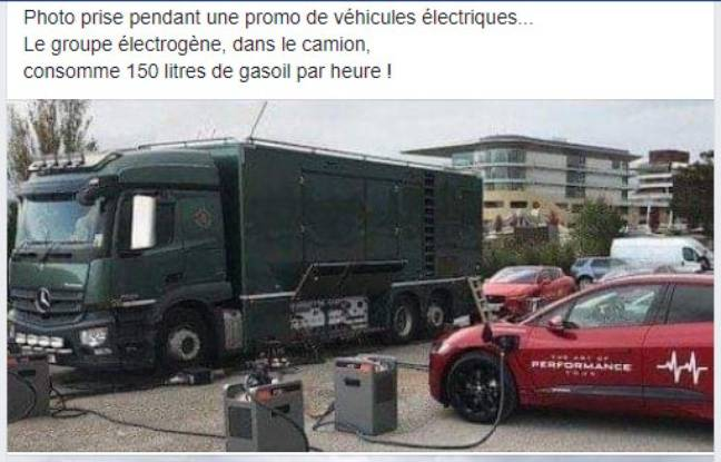 Le post Facebook anti-véhicules électriques.
