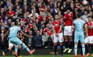 Dimitri Payet a inscrit un beau coup franc contre Manchester United en quart de finale de la Cup (1-1), le 13 mars 2016.