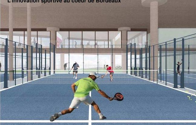 Des terrains de padel seront propsoés au sein de la cathédrale des sports dans le quartier Brazza à Bordeaux