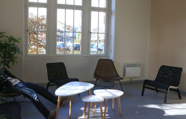 La salle de repos au centre Argos. Strasbourg le 7 novembre 2016.
