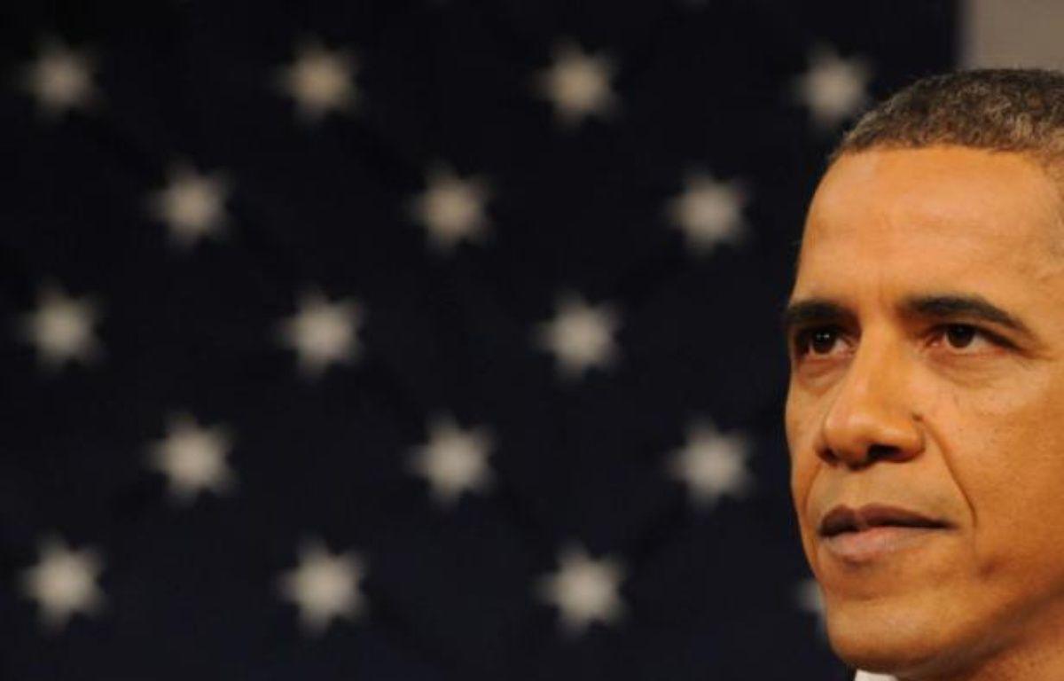 Barack Obama, lors de son 3e discours sur l'état de l'Union, le 24 janvier 2012. – S.LOEB/NEWSCOM/SIPA