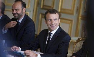 Edouard Philippe et Emmanuel Macron lors d'une réunion à l'Elysée, le 13 juillet 2017.