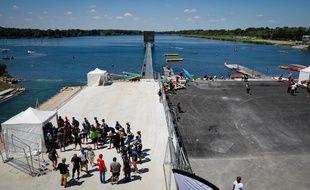 Le nouveau stade nautique de Vaires-Torcy, qui sera utilisé pour les JO 2024, a été inauguré le 22 juin 2019.