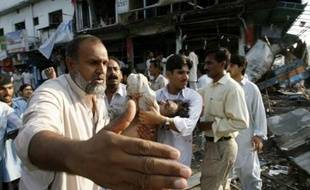 Près de la Mosquée rouge d'Islamabad, le 27 juillet 2007.