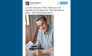 Un tweet de Nicolas Sarkozy le 31 juillet 2015.