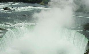 Les chutes du Niagara. (Illustration)