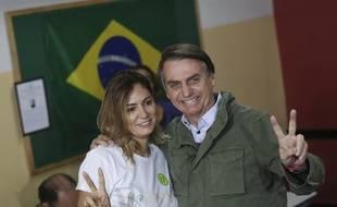 Michelle Bolsonaro, la nouvelle première dame du Brésil, au côté de son mari.