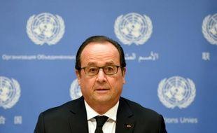 Le président français François Hollande au siège des Nations Unies à New York, le 27 septembre 2015