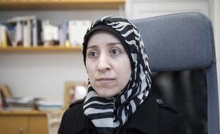 Amani Ballour, pédiatre syrienne et star du documentaire The Cave est venue à Paris rencontrer Le Drian pour évoquer la situation catastrophique des Syriens d'Idleb.