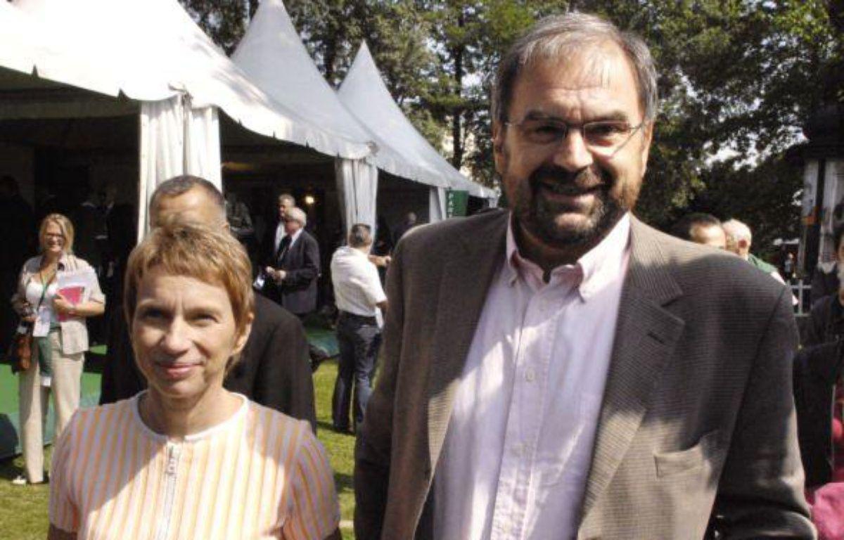 Laurence Parisot et François Chérèque lors de l'université d'été du Medef en août 2007. – S. DE SAKUTIN/ AFP