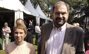Laurence Parisot et François Chérèque lors de l'université d'été du Medef en août 2007.
