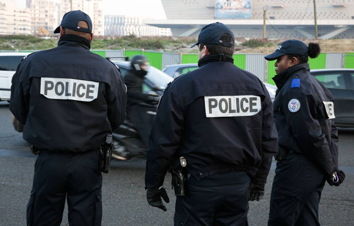 Une vaste opération de police a eu lieu à Lyon. – GEOFFROY VAN DER HASSELT / AFP