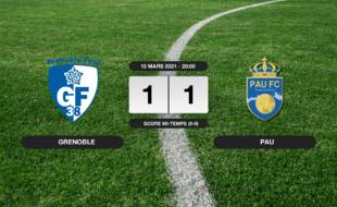Ligue 2, 29ème journée: Grenoble et Pau font match nul 1-1