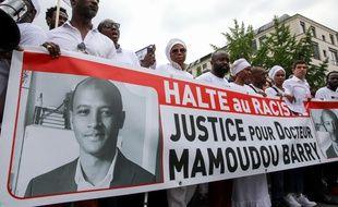 Marche blanche à Rouen le 26 juillet 2019 en hommage à Mamoudou Barry